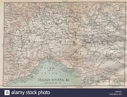 Piedmont Italy Map by North West Italy Liguria Lombardy Piedmont Emilia 1890 Antique