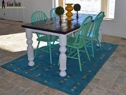 easy diy farmhouse table husky farmhouse table ana white plan her tool belt
