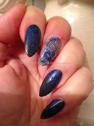 eye candy nails u0026 training embedded blue design from a napkin