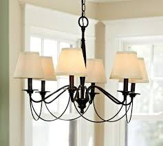 chandelier shades pb basic silk chandelier shade set of 3 pottery barn