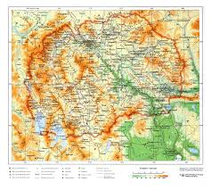 Physical Map Europe by Detailed Physical Map Of Macedonia Macedonia Europe Mapsland