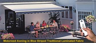 Motorized Patio Covers Sunsetter Motorized Awnings Retractable Patio And Deck Awnings