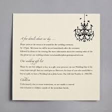 Wedding Invitation Reply Card Wording Chandelier Wedding Invitation By Twenty Seven Notonthehighstreet Com