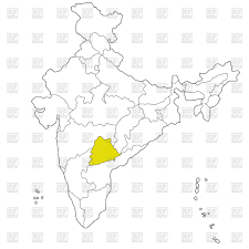 South India Map by New South Eastern State Telangana On The Map Of India Vector Image