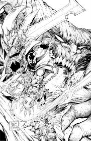first look at spawn 262 black and white cover