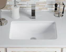 u1913 white white rectangular porcelain sink