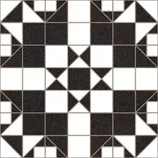 black and white mosaic effect floor tile