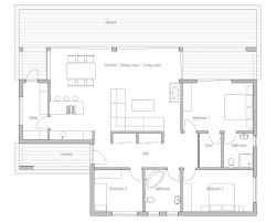 Small House Plans Under 1000 Sq Ft Small Modern House Plans Flat Roof Floor Home Design Pics With