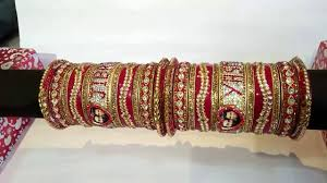 wedding chura with name name and photo bangle bridal set dulhan chura punjabi chura