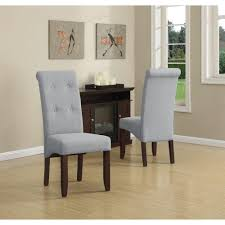 Orange Parsons Chair Simpli Home Cosmopolitan Dove Grey Parsons Dining Chair Set Of 2