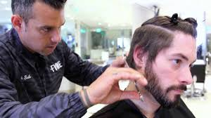 mens haircuts step by step how to cut an asymmetrical undercut hairstyle step by step youtube