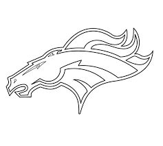 coloring pages broncos coloring