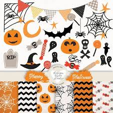 items similar to halloween bunting banners party flags clipart