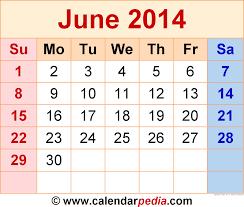 june 2014 calendars for word excel u0026 pdf