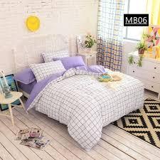 Pure Cotton Duvet Covers High Density Pure Cotton Duvet Covers Set Simple Lattice Bedding