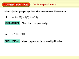 example 3 identify properties of real numbers ppt video online