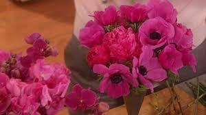 video pink flower arrangements martha stewart