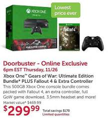 black friday deals microsoft first xbox one black friday 299 bundle revealed includes two