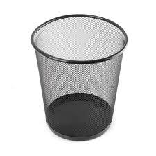 poubelle de chambre tempsa poubelle corbeille à papier solide poubelle en métal pour