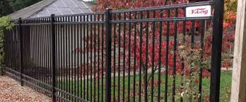 Outdoor & Garden Black Iron Viking Fence For Remarkable Outdoor