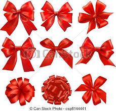 big present bow big set of gift bows with ribbons vector vector clip