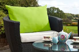 patio cushions and pillows lawn garden stunning lime outdoor cushions black resin wicker