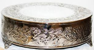 silver wedding cake stand 14 inch silver wedding cake stand plateau