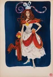 theadora van runkle theadora van runkle costume design sketch of samantha eggar from