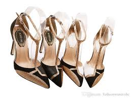 white black gold dress shoes ankle strap pumps high heels sale