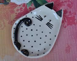 ceramic cat ring holder images Cat spoon rest etsy jpg