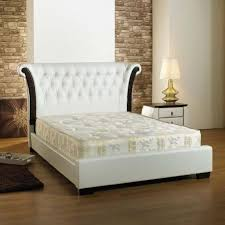 melissa white faux leather double bed frame leather beds