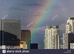 uk 7th april 2016 uk weather colourful rainbow breaks