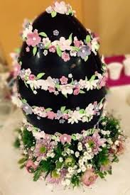 Decorating Easter Eggs With Sugar Paste by Chocolate Easter Egg With Flowers Sugar Flowers Creations Nicky