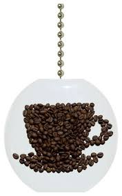 Ceiling Fan Accessories by Coffee Beans Coffee Cup Ceiling Fan Pull Contemporary Ceiling