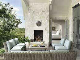 White Patio Cushions by Gray Outdoor Coffee Table Design Ideas