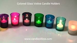colored glass votive candle holders youtube