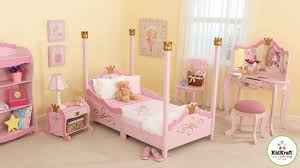 Pink Bedroom Sets Small With Pink Tv Kidkraft Princess Toddler Four Poster Customizable Bedroom Set