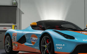 gulf racing wallpaper ferrari laferrari 2013 gulf racing gta5 mods com