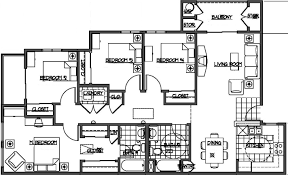 4 Bedroom 2 Bath House Plans 4 Bedroom Apartment Floor Plans