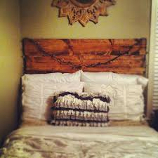 bedroom creative recycled junk diy headboard come with 4 sheat