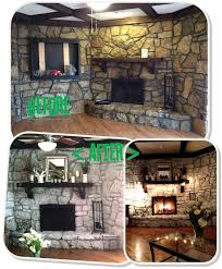 mrs frog prince 1970 u0027s stone fireplace makeover