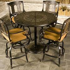 Bar Height Patio Set With Swivel Chairs Bar Height Swivel Patio Chair Swivel Chair Design