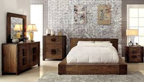 low profile bed in rustic finish fa29 contemporary bedroom