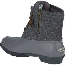womens quilted boots uk uk womens sperry saltwater quilted wool duck boot in grey