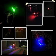 dog collar lights waterproof led dog collar light up night safety collar usb rechargeable