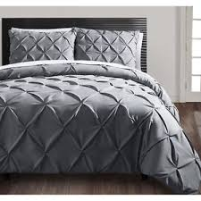 beautiful textured ruffled modern duvet cover shams set grey king