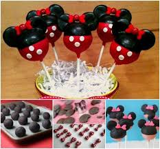 diy disney cake pops with a minnie mouse theme