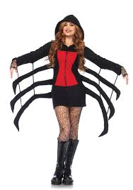 leg avenue 85558 cozy black widow spider costume dress up
