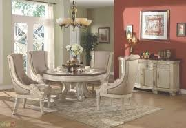 antique white round formal dining room set throughout first class