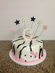 zebra striped birthday cake buttercream frosted 8 inch square